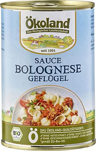 ÖKOLAND Bio Sauce Bolognese rein Geflügel (6 x 400 gr)