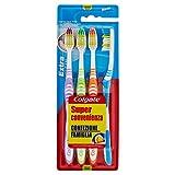 Colgate Extra Clean - Spazzolino da denti, misura media,4 pezzi