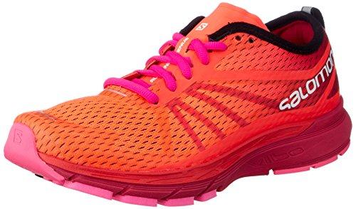 SALOMON Damen Sonic Ra Pro W Traillaufschuhe, Orange (Fiery Coral/Cerise./Pink Glo 000), 38 2/3 EU