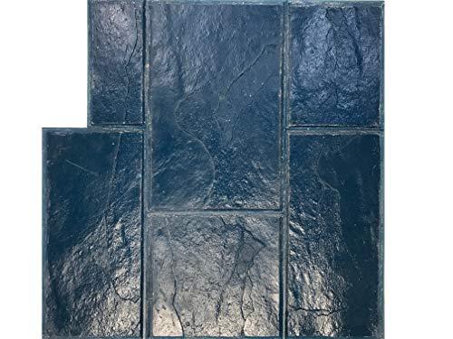 GlobMarble Stamped Concrete. Slate Stone Stamp SM 3002/2 Blue. Ashlar Slate Concrete Stamp Mats
