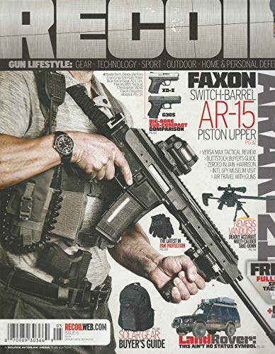 RECOIL MAGAZINE,ISSUE, 2013 ISSUE, 06 FAXON SWITCH -BARREL* AR-15 PISTON UPPER