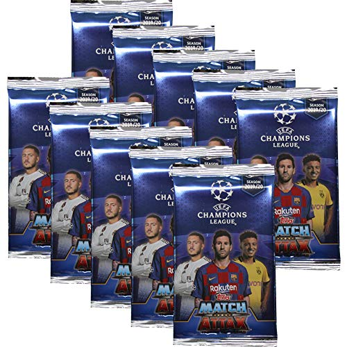 Topps Champions League 2019/20 - Trading Cards - 10 Booster - Deutsch