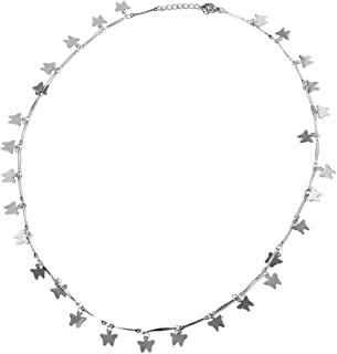 Stainless Steel Charms Necklace for Women Jewelry Gift 20