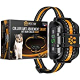 One PETS-TOP Collier Anti Aboiement Chien Dressage Automatique IP67 Batterie Rechargeable Inoffensif 4 À 70 Kg Bip Vibration Choc 5 Modes Faciles Manuel FR
