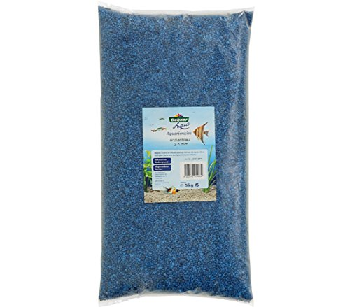 Dehner Aqua Aquarienkies, Körnung 2 - 4 mm, 5 kg, enzianblau