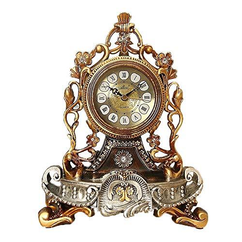 Triplsun-Clock tafelklok Europese stijl klok creatieve stille klok persoonlijkheid zittend klok woonkamer grote schommel klok kwartsklok decoratieve tafelklok Color Two