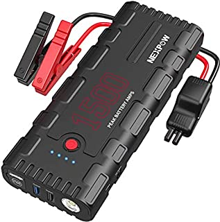 NEXPOW Car Battery Starter, Save 10% Code:G17F2020,1500A Peak 21800mAh 12V Auto Car Jump Starter Power Pack with USB Quick Charge 3.0 (Up to 6.5L Gas or 4L Diesel Engine)