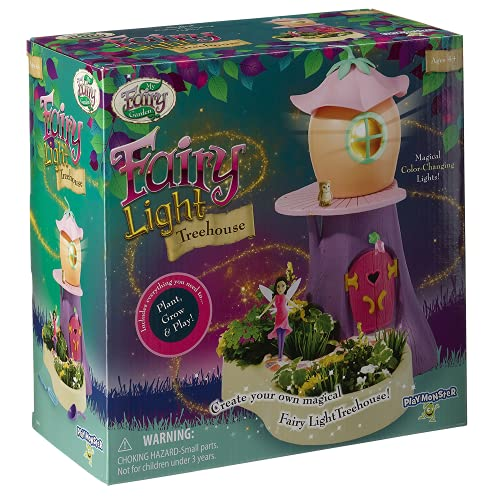 My Fairy Garden - Light Treehouse -- Color-Changing Light That Moves! -- Plant and Grow Your Own...