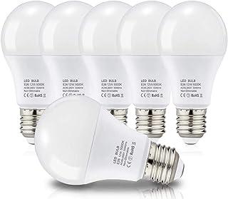 LED電球 E26口金 電球 100W形相当 12W 1250lm 広配光タイプ 省エネ 高演色 密閉形器具 断熱材施工器具対応 (6個 昼白色)