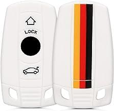 kwmobile Funda Compatible con BMW Llave de Coche de 3 Botones (Solo Keyless Go) - Carcasa Protectora Suave de Silicona - Bandera Alemana