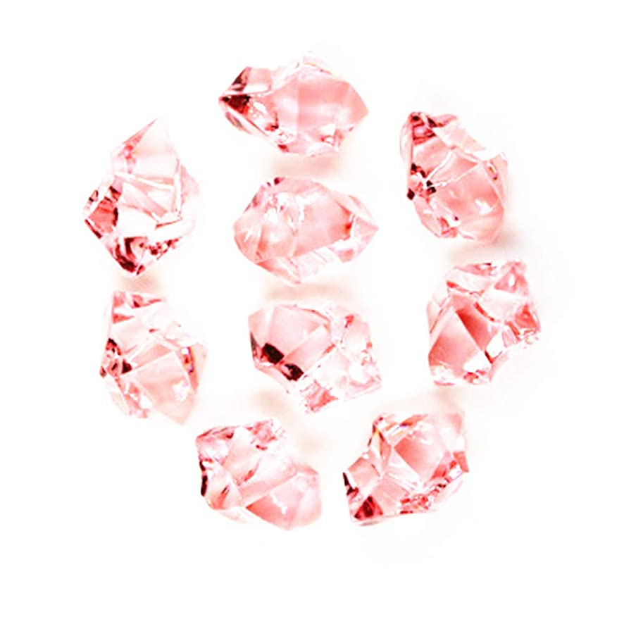 Briliant Shop Acrylic Color Faux Ice Rock Crystals Treasure Gems for Table Scatters, Vase Fillers, Fish Tank, Party Decoration, Arts & Crafts (Light Pink)