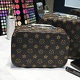 Kosmetiktasche größe tragbare kosmetiktasche aufbewahrungsbox harte schale tragbare kosmetiktasche aufbewahrungstasche große kapazität neue blumen (klein)