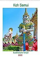 Koh Samui - Buddhistische Tempel (Wandkalender 2022 DIN A2 hoch): Schoenheit und Pracht der Tempel Big Buddha und Plai Laem auf Koh Samui. (Planer, 14 Seiten )