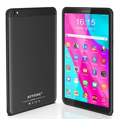 Tablet 8 Pollici Android 10.0 Google Certificazione GMS Tablet PC, 3GB RAM+32/128GB ROM,Tablet per Bambini con Fotocamera da 5MP, Tablet Offerte Supporta FM e Wi-Fi (nero)