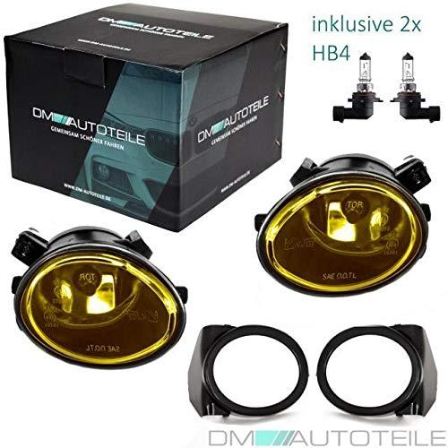 DM Autoteile 2x Nebelscheinwerfer Set für E46 E39 M Paket Technik M3 M5 Klarglas Gelb+HB4