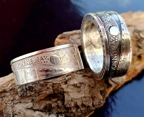Coinring, Münzring, Ring aus 10 Euro Gedenkmünze 2008,