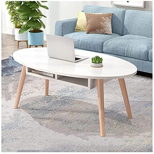 Tavolino da divano, Tavolini da caffè Tavolino da caffè Tavolo da cocktail ovale Piccolo soggiorno Camera da letto Divano multifunzionale TV Tavolo da tavola da tè 100 × 50 × 42 cm Tabelle terminali (