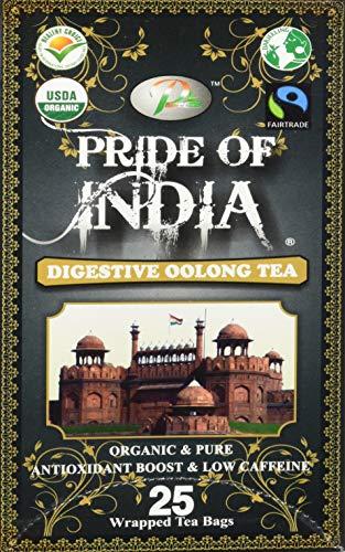 Pride Of India - Digestive Oolong Tee-Beutel-1 Packung (25TeaBags) Pflegen Sie das Körpergewicht, erfrischend und gesund (Verdauungs Oolong Tee-Beutel, erhält das Körpergewicht, erfrischend und gesund)