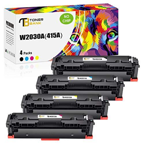 Toner Bank Kompatibel HP 415A 415X Toner Cartridge Replacement für HP MFP M479fdw M479dw M479 Toner HP Color Laserjet Pro MFP M479fdw M479fdn M479fnw HP M454 M454dw M454dn W2030A W2030X (Kein Chip)