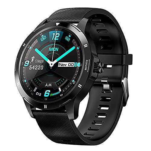 ZGZYL Reloj Inteligente De Los Hombres con Monitor De Frecuencia Cardíaca/Presión Arterial / SPO2 Monitor/Sleep Tracker/Bluetooth Watch iOS Android Smart Watch Rastreador De Fitness,E