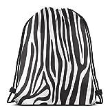 EU Beautiful Outspace Mochila con cordón para gimnasio, bolsa de cuerda, color blanco y negro