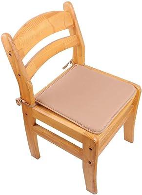 チェアクッション2個セット40x 40 cm、家庭用および庭用シートクッション、洗えるチェアクッション(ブラウン)
