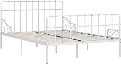 Goliraya Estructura de Cama con Somier Marco de Cama Metal Blanco 140x200 cm