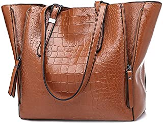 バッグ 新しい 女性 ハンドバッグ ファッション シングル ショルダーバッグ 多機能 ワニパターン バッグ