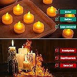 24 LED Kerzen, Diyife® LED Flammenlose Tealights, Flackern Teelichter, elektrische Kerze Lichter Batterie Dekoration für Weihnachten, Weihnachtsbaum, Ostern, Hochzeit, Party [Batterien enthalten] - 3