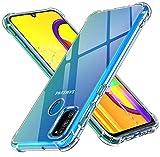 ivoler Klar Silikon Hülle für Samsung Galaxy M30s / M21 mit Stoßfest Schutzecken, Dünne Weiche Transparent Schutzhülle Flexible TPU Durchsichtige Handyhülle Kratzfest Hülle Cover