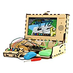 """BUILD A COMPUTER: Includes all the components needed to build a fully-functioning computer! A Raspberry Pi, 9"""" screen, DIY speaker, rechargeable battery. Teaching kids to be STEAM-capable; coding their own games, interactive projects and more! HANDS-..."""