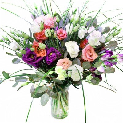 Lisianthus Blumenstrauß Geburtstag - Inkl. gratis Grußkarte!