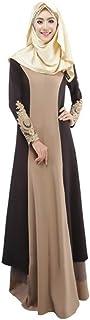 فستان GRIPY للنساء طويل كاجوال عتيق عبايات طويل ماكسي فستان عربي جلباب مسلم للنساء حجم زائد روب