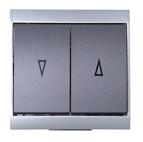 Kopp 621515086 Malta Jalousieschalter, silber-anthrazit