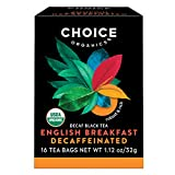 Choice Organics – Organic Decaffeinated English Breakfast Tea (6 Pack) – Organic Black Tea – 96 Tea Bags