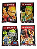 Lego Ninjago Kai Lloyd Jay and Pyro Whipper FS Spinjitzu Slam Minifigures- Collector Foil Pack Combo