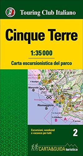 Cinque Terre. Carta escursionistica del parco. 1:35.000
