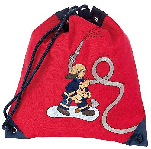 sigikid 23330 enfant garçon, sac à dos de sport rouge/bleu, 'Frido Firefighter'