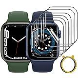 FITA 9 Pezzi Pellicola Protettiva compatibile con Apple Watch Series 7/6/5/4/SE/3/2/1, HD TPU Sensibile al tatto Protezione Schermo compatibile con Apple Watch 45mm/44mm/42mm, Antigraffio