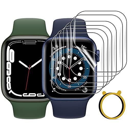 FITA [9 Stücke] Schutzfolie Kompatibel mit Apple Watch Series 7 45mm /6/5/4/SE 44mm /3/2/1 42mm, Weiche TPU Anti-Kratzen Folie Bildschirmschutzfolie Kompatibel mit iWatch Series 42mm/44mm/45mm
