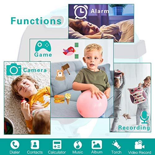 Kinder SmartWatch - MP3 Musik 14 Spiele Kids Smart Watch Anruf Chat SOS Taschenlampe Digitalkamera, Uhr mit Telefon Kamera Wecker Recorder Rechner Video Geschenk für Kinder Junge Mädchen(Blau)