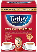 Tetley Extra Strong Tea Bags 75 per pack - Pack of 6