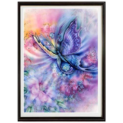 Hengxing mariposa diamante pintura DIY Rhinestone Animal Cross-Stitching Set decoraci/ón del hogar