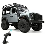XiangXin Mini RC Car, 1/12 MN99S 4WD Crawler Remote Control Car Model Toy with Light Pickup Upgrading Off-Road RC Car, Drift RC Car for Adults Boys Kids Girls(Dual Battery)