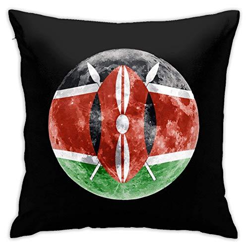 MZZhuBao Funda de cojín con diseño de la bandera de Kenia de Kenia, fundas de almohada, fundas de almohada para sofá, decoración del hogar, 45,7 x 45,7 cm