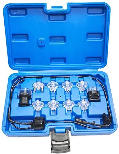 11 Piezas Kit de Prueba de luz Noid Inyección electrónica de Combustible y señal Probador Noid Lite Juego de Prueba de luz Herramienta de Prueba de inyector de Combustible Juego de luz Noid Luz d