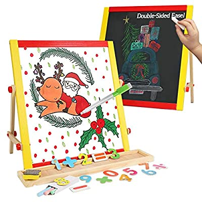 Amazon - Save 50%: Wooden Easel for Kids, Art and Painting Learning Toys Set – Easy to Clean