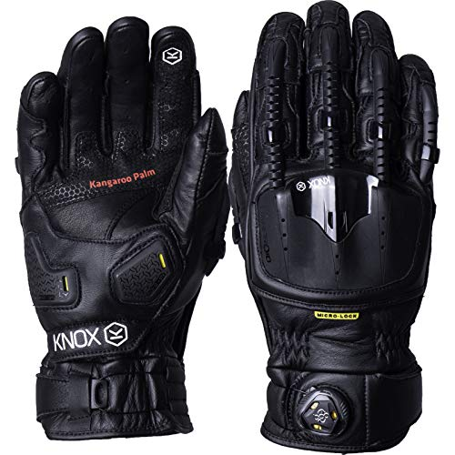 KNOX HANDROID POD Black MK4 Motorcycle Gloves S