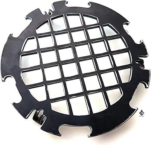 Becker Design Branding Grillrost 6mm für Feuerplatte | Plancha | Grillplatte mit 20cm Feuerloch