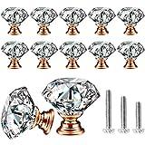 Cabinet Knobs, KDO 10 Pack Drawer Knobs Pull Handle Crystal...